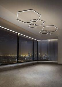 Le lampade LED di Olev Poly Esagono che saranno presenti al FuoriSalone