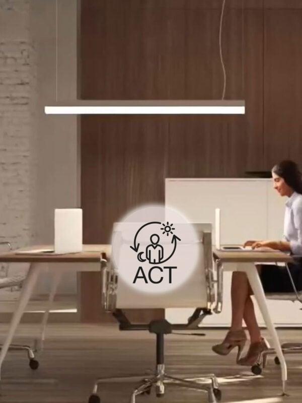 ACTIVESWORD_icona_ragazza_ufficio_icona_OLEV_lampada_intelligente_sensore_presenza_regolazione_luce