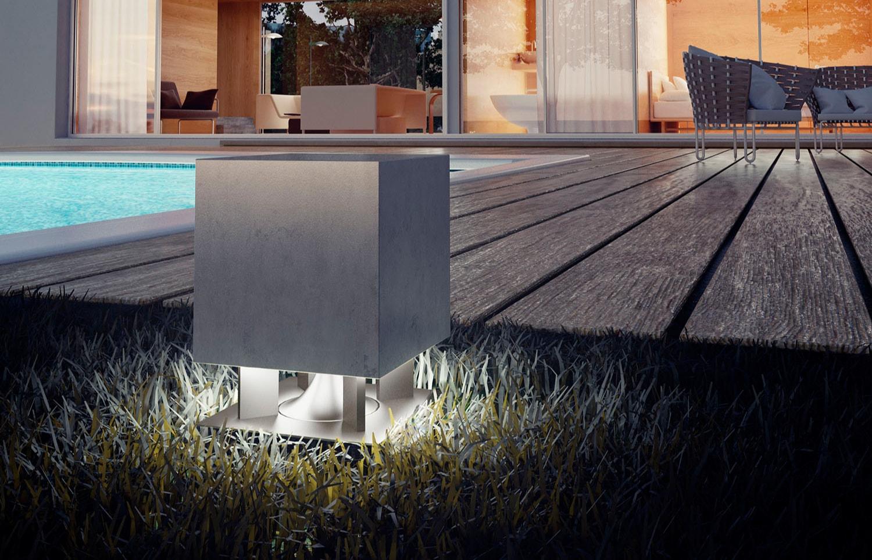 Cimento Esterno - Lampade da esterno