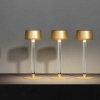 Tee lampada a LED da tavolo a batteria ricaricabile touch con base magnetica OLEV