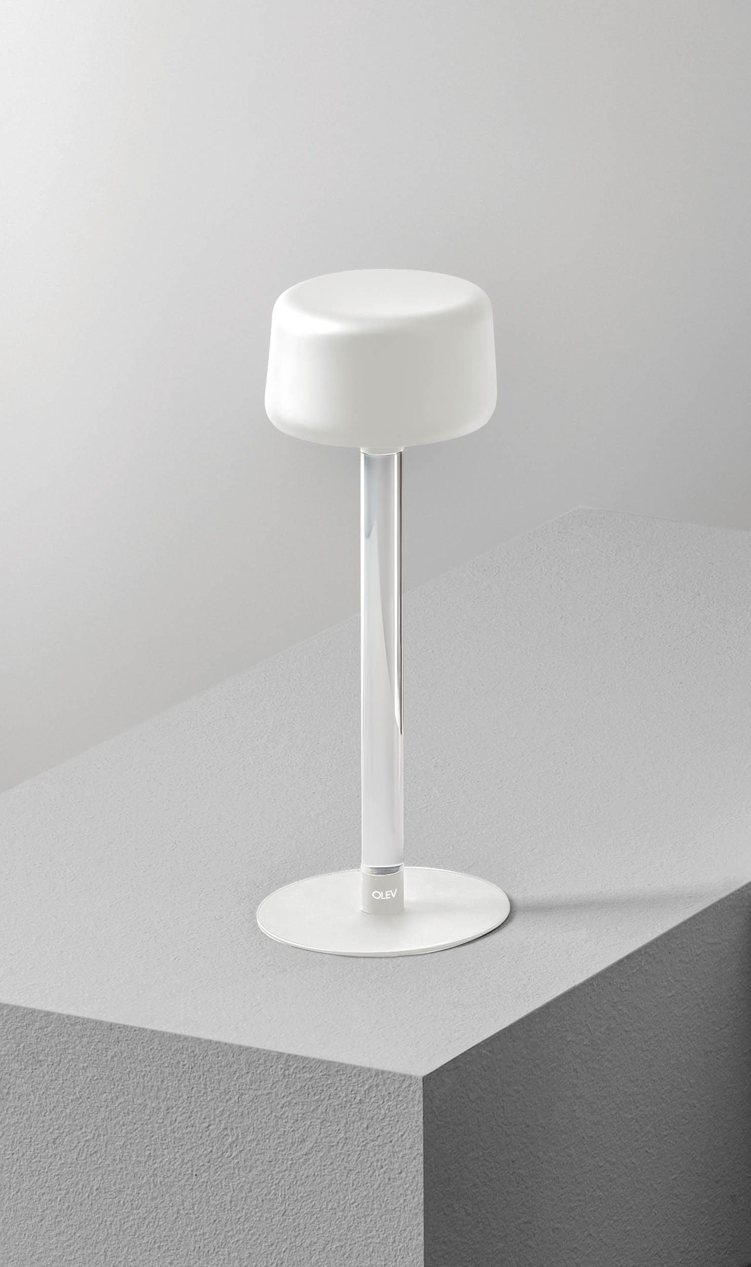 OLEV_TEE_bianca_lampada_batteria_tavolo_wireless_senza_fili_magnetica